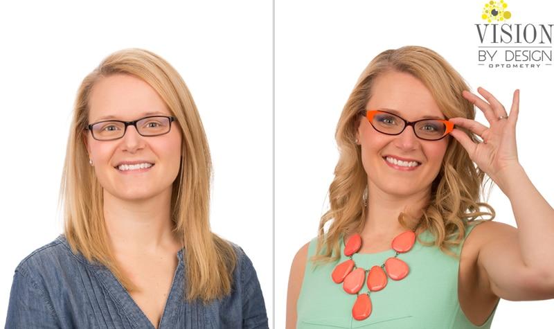 eyewear makeover Dr.Sarah Keep Optometrist Edmonton