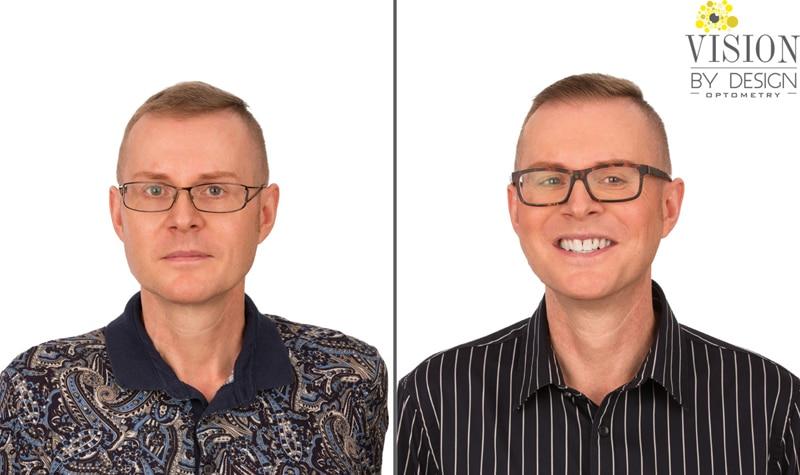 eyewear makeover short haired man optometrist edmonton